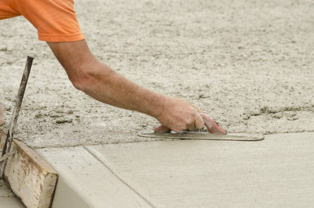 A concrete sidewalk with the perfect thickness