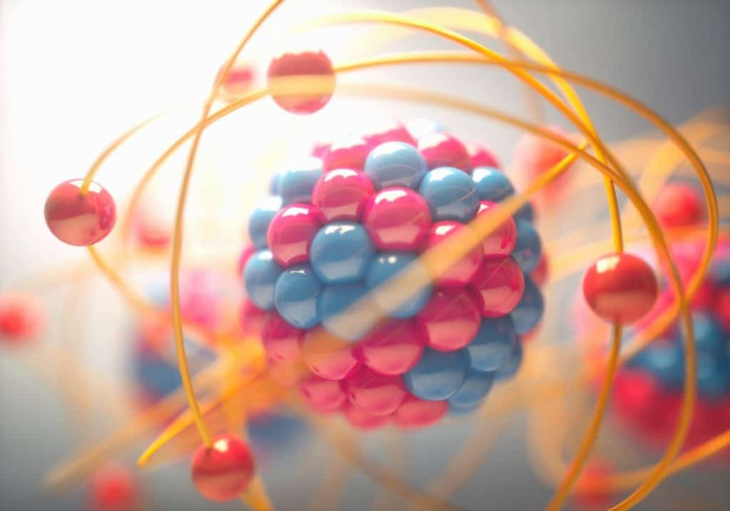 Artistic view of atomic structures