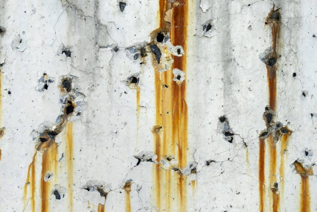 Rust stains on concrete