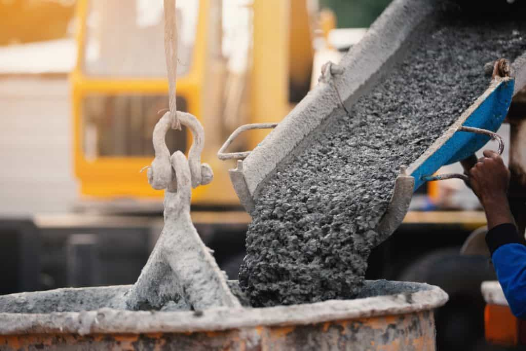 Pouring concrete in cold weather