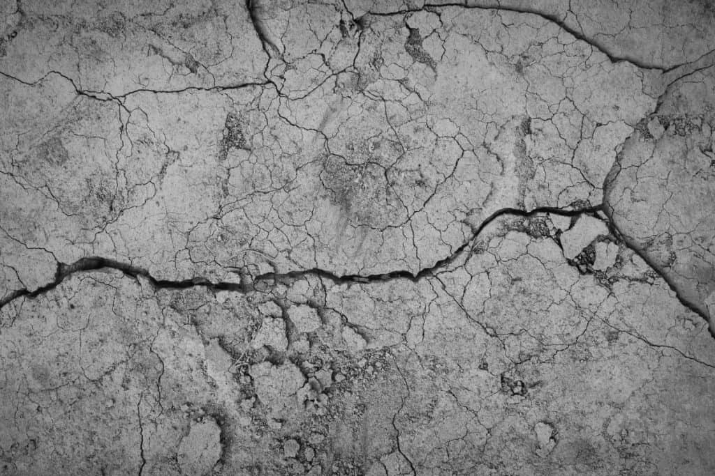 Cracked concrete footing