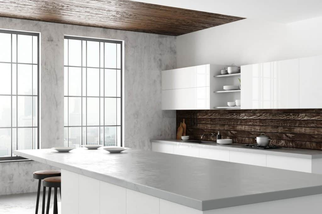 Concrete countertop without rocks or gravel