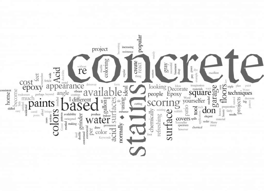 Image with the word concrete