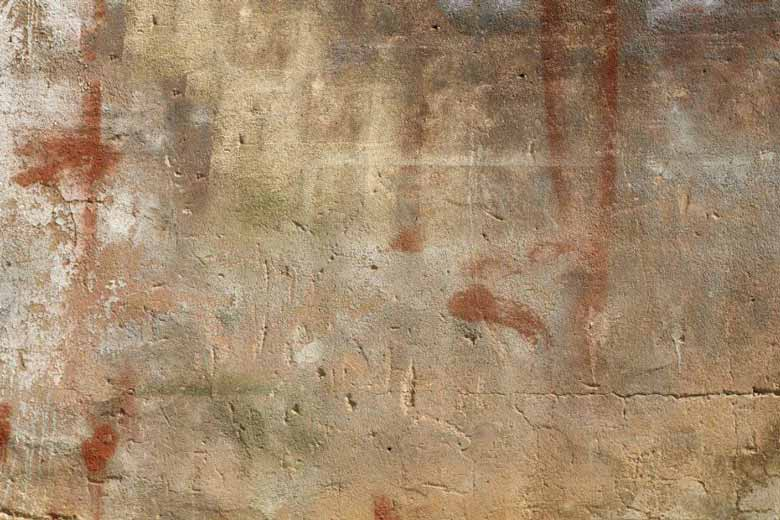 Dirty old concrete wall that changed color