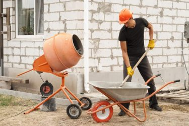 How to Mix Large Quantities of Concrete (On the cheap!)