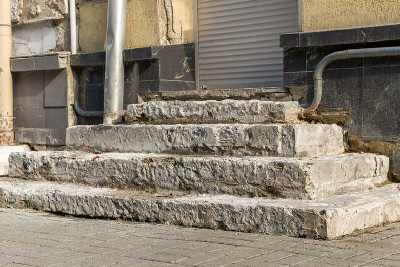 Old concrete steps that needs to be removed
