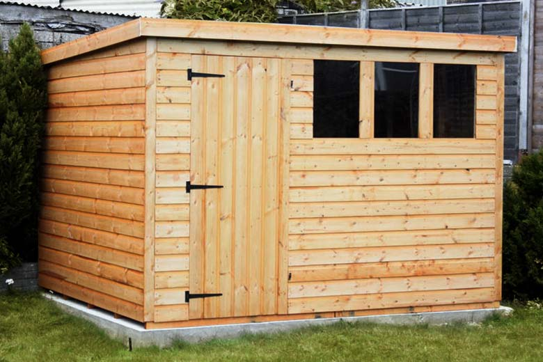 Shed on concrete foundation